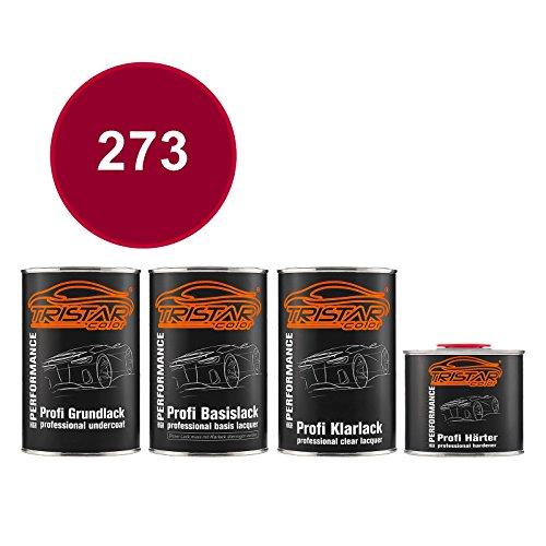 TRISTARcolor Autolack Set Dose spritzfertig für Alpine/Renault/Renault RVI 273 Rouge Feria Nacre Grundlack + Basislack + 2K Klarlack 3,5L -