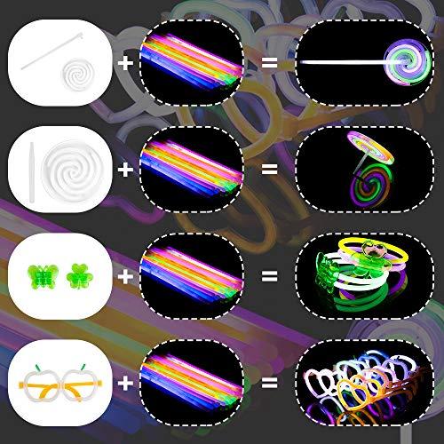 Imagen de varitas luminosas para fiestas,kit glow sticks para pulseras, anteojos, cintas para la cabeza, molinos de viento, giroscopios, mariposas, bolas, flores,suministros de fiesta de halloween 244 en total  alternativa