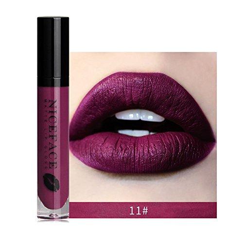 Liquidation !!! OSYARD Beauté Nouveau Lèvre Lingerie Mat Liquide Rouge à lèvres Imperméable Gloss Maquillage 12 Shades(#11)