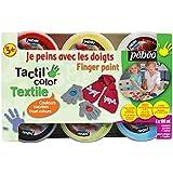 Pébéo 634190 Tacticolor Textile Couleurs Nacrées Assortiment de 6 Pots de 100 ml