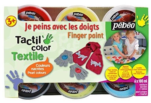 pebeo-634190-tacticolor-textile-set-de-pintura-para-tela-6-tarros-de-100-ml-colores-nacarados-variad