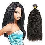 THATSYOU Kinky Straight Perücke Echthaar natürlichen schwarz Tissage brasilianisches für Frauen Black Kinky Teppan yaki Straight Human Hair Weaves 100g/PCS (1PCS 14inch)