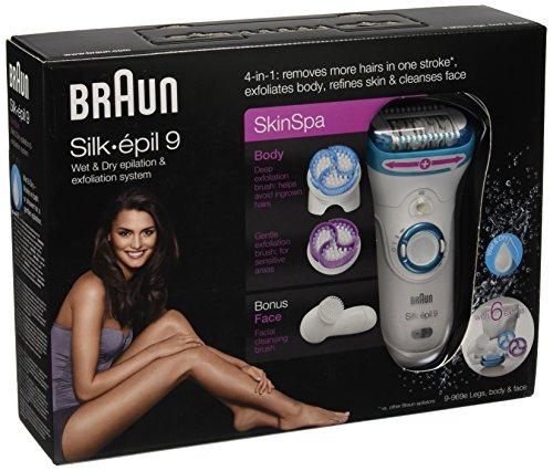 Foto Braun Epilatore Silk-épil 9 SkinSpa 9-969e Sistema di Epilazione ed Esfoliazione Wet & Dry 4 in 1 con 6 Accessori