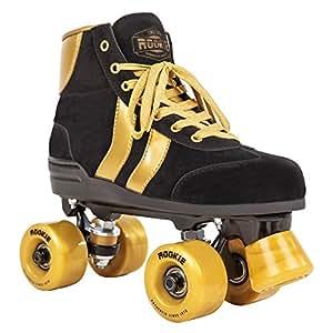 ROOKIE Mädchen Rollerskates Authentic RKE-SKA-215 34,5 Black/Gold