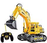 Top Race 7 Canales Completamente Funcional RC Excavadora, Alimentada por una Batería Eléctrica RC Control Remoto Construcción Tractor con Luces y Sonido (TR-111)