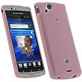 igadgitz Rosa Case TPU Gel Funda Cover Carcasa para Sony Ericsson Xperia Arc S Android + Pantalla Protector
