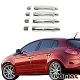 Accessorio per maniglie Fiat Bravo dal 2010in poi, in acciaio inossidabile cromato