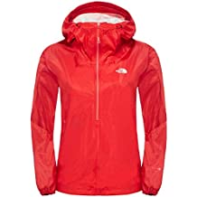 North Face W Fuseform Cesium Anorak - Chaqueta para mujer, color rojo, talla L