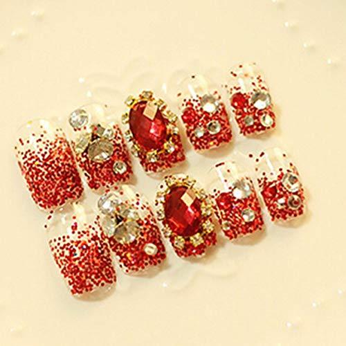 QTBWen Künstliche Nägel zum Aufdrücken, mit süßen Karton-Designs, kurz, Kawaii Falsche Nägel in feinem Stil, 24 Stück