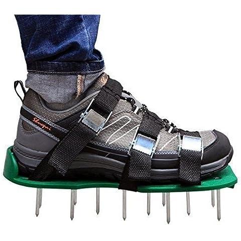 ycnk Aireador de césped zapatos con hebillas de metal y correas de 6–Heavy Duty Sandalias con pinchos para airear sus Césped o yard- 2