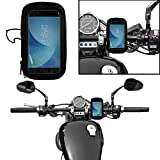 #6: Autofy Universal Weather Resistant Bike Mount Holder/Mobile Phone Holder for All Bikes, Scooters (Black)