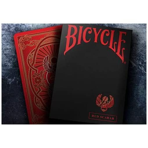 Bicycle-Scarab-Red-Playing-Cards-by-Crooked-Kings-Kartenspiele-Zaubertricks-und-Magie