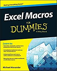 Excel Macros For Dummies by Michael Alexander (2015-06-02)