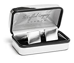 Idea Regalo - The Cufflink Company. gemelli quadrati in argento cromato, con incisione possibile
