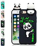 LA-Otter Coque iPhone 7 Plus 8 Plus Noir Panda Ultra Fine Slim Mince Silicone TPU Gel...