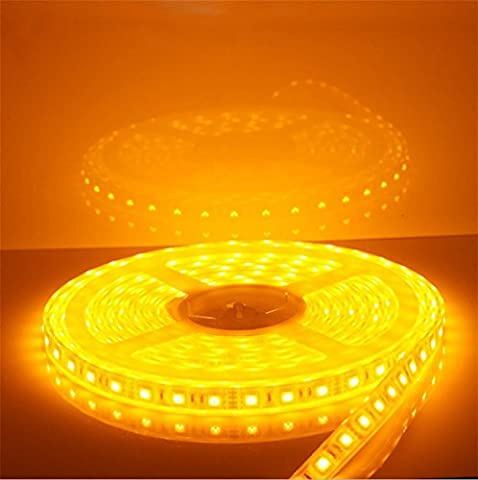 OOFAY Wasserdichter 12V 5M LED Licht Streifen 5050 Patch 60 Lichter IP65 , yellow