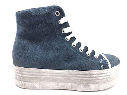 Femme JC PLAY by JEFFREY CAMPBELL 41 Sneakers / Basket mode Bleu Daim AY803