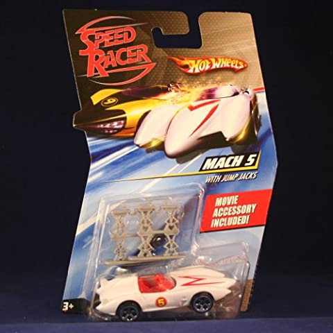 MACH 5 RACE CAR WITH JUMP JACKS Hot Wheels SPEED RACER 1:64 Scale Movie Vehicle by Speed Racer