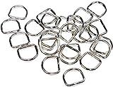 D-Ringe 25 Stück 12x10x2,2mm Halbrundringe Stahl