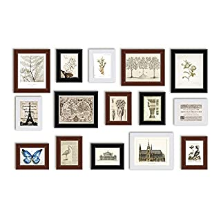 ABM Home Vintage Photo Frame Wall Set, Multi-Colour, 90 x 140 cm, Pack of 15