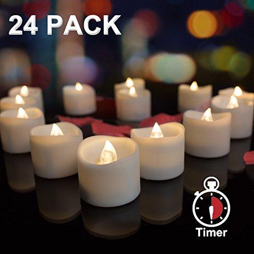 chter batteriebetrieben Bulk mit 6Stunden Timer, amagic klein Flammenlose Kerzen in Warm Weiß Flamme, elektrische Fake Teelicht für Seasonal & Urlaub Dekoration (Led-bulk)
