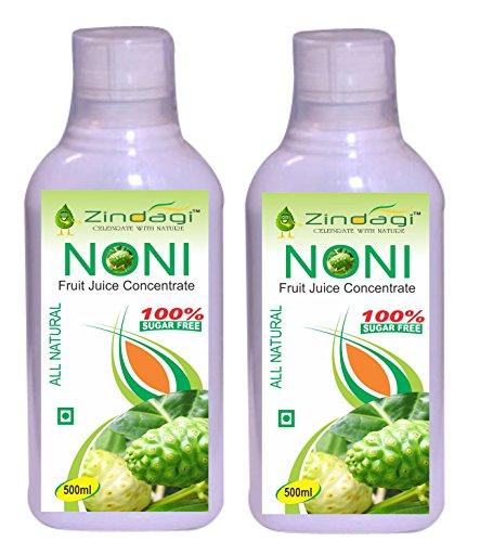 Zindagi Pure Noni Juice - Natural Minerals & Vitamins Sugar-Free Energy Drink - Noni Food Supplement (1000 ML)