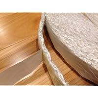 "Adhesiva madera sello junta de puerta de estufa, cuerda de fibra de vidrio. Soporte de 1/4""x 1.5"" de ancho x 25m rol"