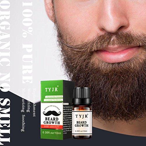 Lanspo Bart Wachstum Ätherisches Öl Schnurrbart Styling Feuchtigkeitsspendende Herren Pflege 10 ML,Ausgewogene Kopfhautölsekretion,Aktivierung der Haarfollikelzellen