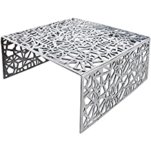 Stylischer Couchtisch ABSTRACT 75 Cm Alu Silber Im Triangle Design Tisch Aluminium