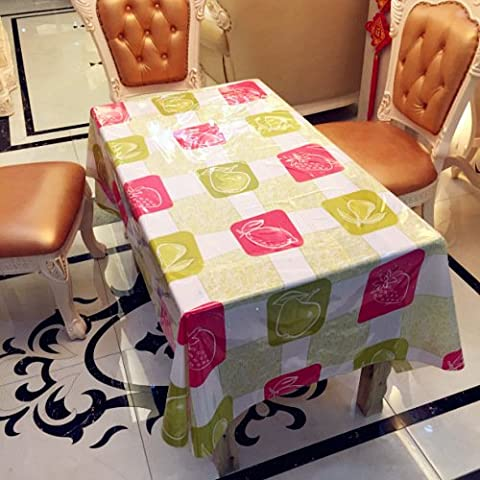 Semplici tovaglie di famiglia in pvc impermeabile tavolino rettangolare tovaglia