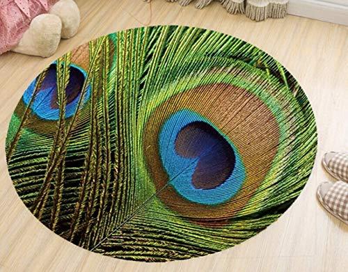 ZLL Home Wohnzimmer Eingang Nachttisch Teppich-Mode Chinesischen Stil Kreisförmige Form Teppich Leicht zu handhaben Flecken Rutschfeste Anti-Fading Wohnzimmer Schlafzimmer Computer Stuhl Hängen Ratta - Kunststoff-stuhl Moderner