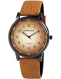 Trend de Wares de mujer reloj de pulsera Marrón Claro Plata de Titanio Look analógico de cuarzo metal piel mujer reloj