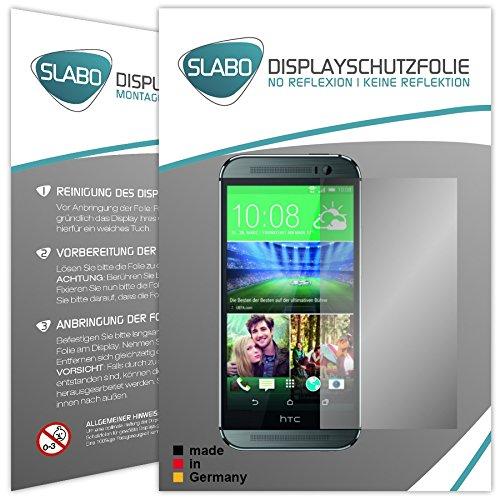 2 x Slabo Displayschutzfolie HTC ONE 2 M8 Displayschutz Schutzfolie Folie