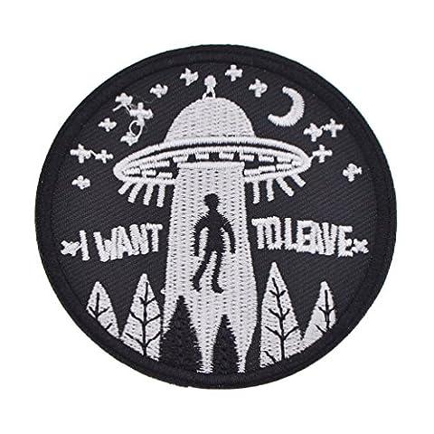 YNuth 1x Bügelbild Aufnäher Hand UFO Mund Astronaut Flicken Pacthes Kleidung DIY (Astronaut Kleidung)