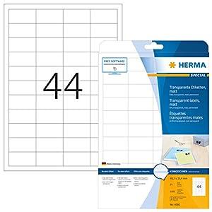 HERMA 4680 Labels transparent matt A4 48,3x25,4 mm film 1100 pcs.
