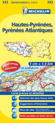 HAUTES - PYRENEES / PYR - ATLANTIQUES 11342 CARTE ' LOCAL ' ( France ) MICHELIN KAART (KAARTEN/CARTES MICHELIN)