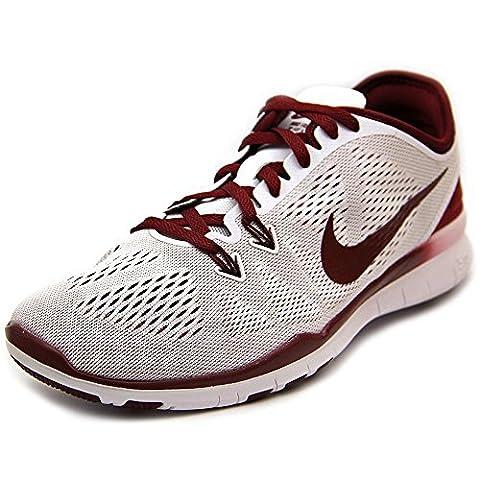 Nike , Damen Sneaker weiß Weiß / Team-Rot (Nike Free Trainer Rot)