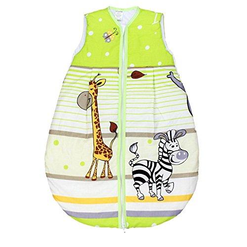 TupTam Baby Unisex Schlafsack Ärmellos Wattiert, Farbe: Imagine Grün, Größe: 80-86