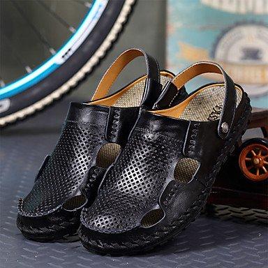 Slippers & amp da uomo;Estate Comfort PU all'aperto Sandali piatti con fibbia tacco sandali US7 / EU39 / UK6 / CN39