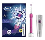 Oral-B Pro 680 Pink Rechargeable Electric 3D Toothbrush with Travel Case