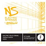 D\'Addario Bowed Corde seule (Fa grave) pour violoncelle D\'Addario NS Electric, manche 4/4, tension Medium