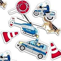 falksson XXL police confetti with 24 pieces.