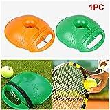 UxradG Tennis Ball Training Boden, Tennis Training Werkzeug Tennis Selbststudium Rebound Ball mit Tennis-Trainer Baseboard Sparring Gerät, Orange
