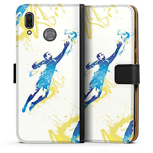 DeinDesign Tasche kompatibel mit Huawei Honor Play Leder Flip Case Ledertasche Torhueter Football Fussball -