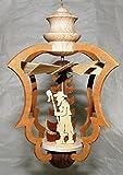 Handgefertigte, filigrane Sägekunst - Hängepyramide, Wärme-, Windspiel: Schafszeit - Schäfer, Schaf, Hund