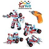 Conjunto educativo de ingeniería de construcción ToyVelt STEM c Taladro eléctrico de juguete - para niños de 3, 4 y 5 años o más. - El mejor juguete para niños de 3 a 12 años de edad