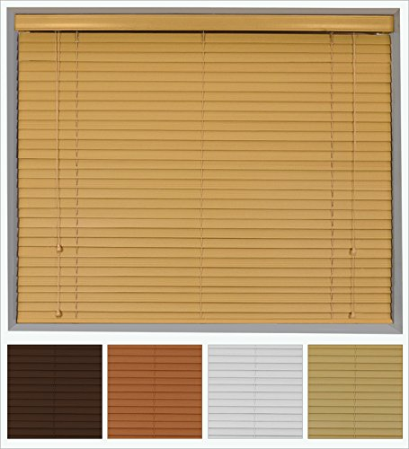 hardwood venetian blind 35mm slats bass wood many colours u0026 sizes available 105cm oak
