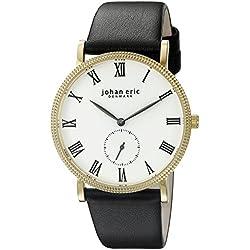 Johan Eric Men's JE-H1000-02-001 Holstebro Analog Display Quartz Black Watch