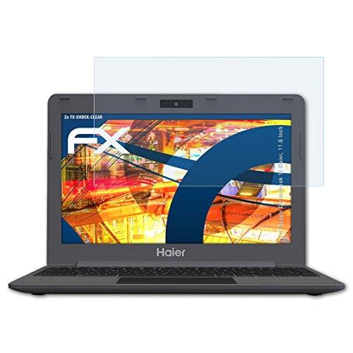atFolix Schutzfolie kompatibel mit Google Chromebook 11 Haier, 11.6 Inch Panzerfolie, ultraklare & stoßdämpfende FX Folie (2X)