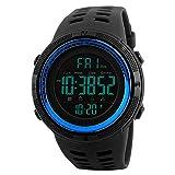 Bainuojia Jungen Digitaluhren, Kinder Sport 5 ATM wasserdicht Digital Uhren mit Alarm/Timer/EL Licht, Blau Kinderuhren Outdoor Armbanduhr für Jugendliche Jungen (Blue)